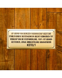 KETEL 1 Emaille bord